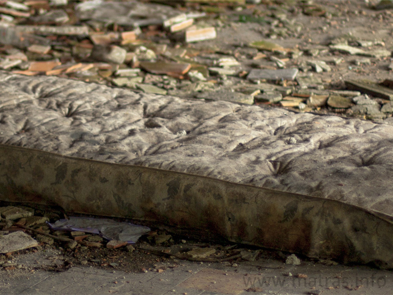 Een oud matras is niet hygiënisch