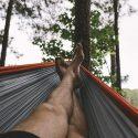 slapen in een hangmat