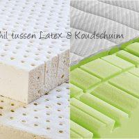 Wat is het verschil tussen latex en koudschuim