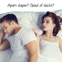 Apart slapen. Goed of slecht voor je huwelijk?
