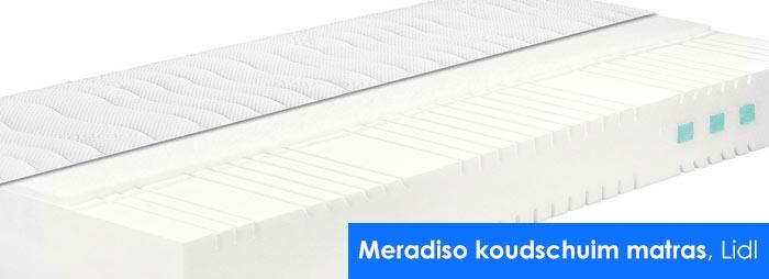 Meradiso koudschuim matras van de Lidl als best getest en beste koop door de consumentenbond in de matrassentest van juli 2018