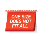 One size fits no one