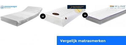 Vergelijk Ravensberger matrassen met Mline en Royal Health Foam