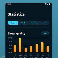 Voorbeeld van een slaap-app