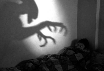 Jongetje met een nachtmerrie
